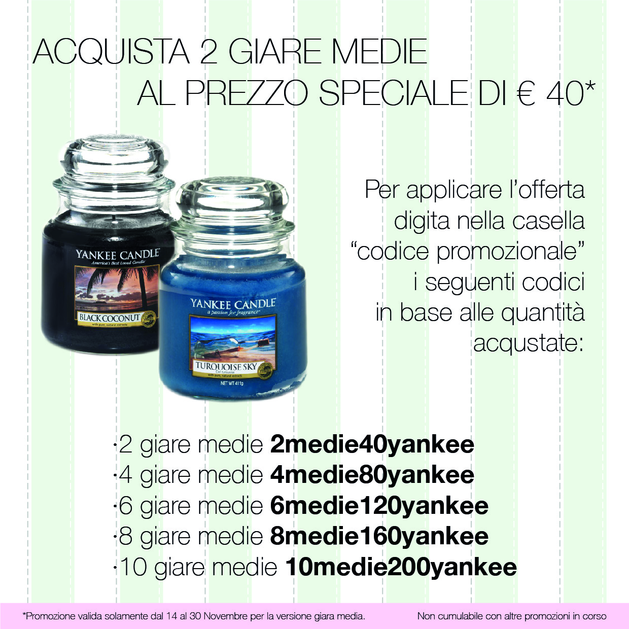 Yankee candle 2 giare medie a 40 floricoltura quaiato for Mobili yankee candle