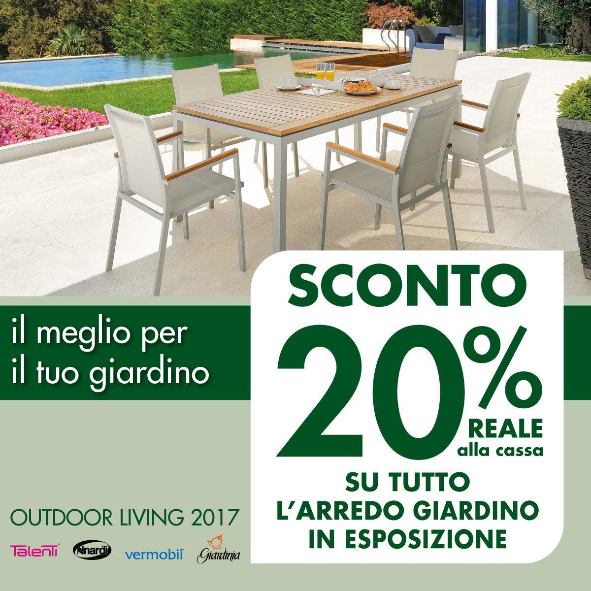 Saldi estivi mobili da esterno sconto del 20 su tutto l for Arredo giardino on line offerte