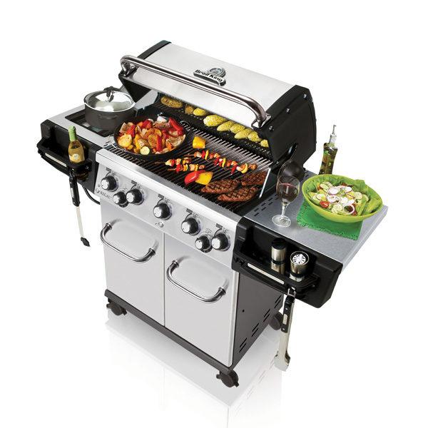 barbecue a gas con fornello per pentola