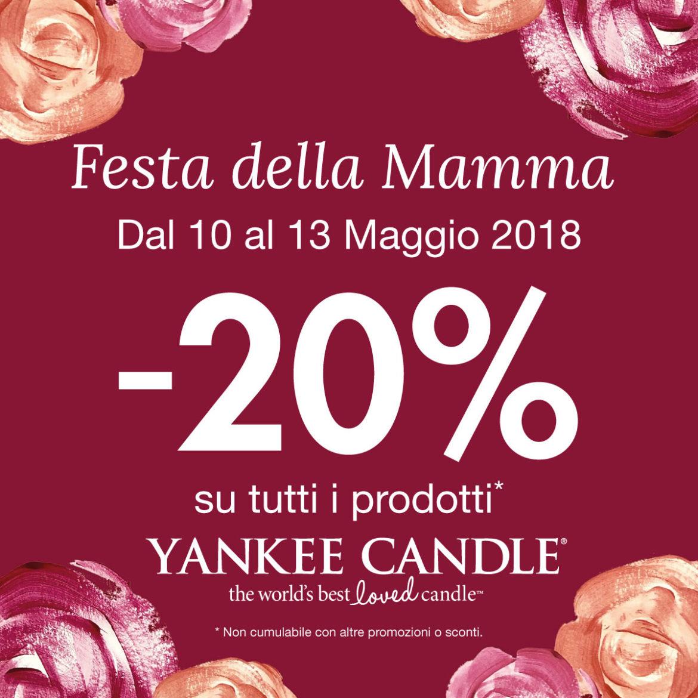 Yankee candle speciale sconto 20 festa della mamma for Mobili yankee candle