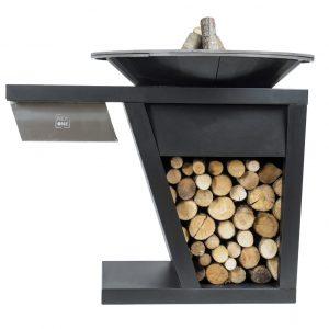 barbecue a legna nerone modularte